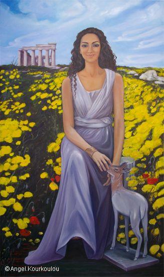''LIto in ancient Greece'' 121220012 oil on canvas 120x60 cm