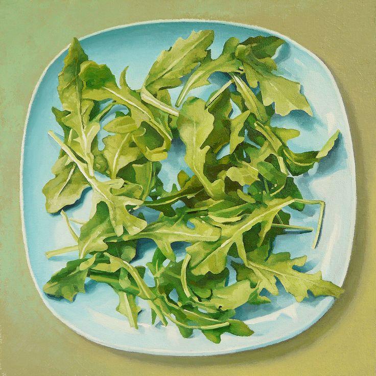 Arugula by Jaye Schlesinger. Oil on panel $950