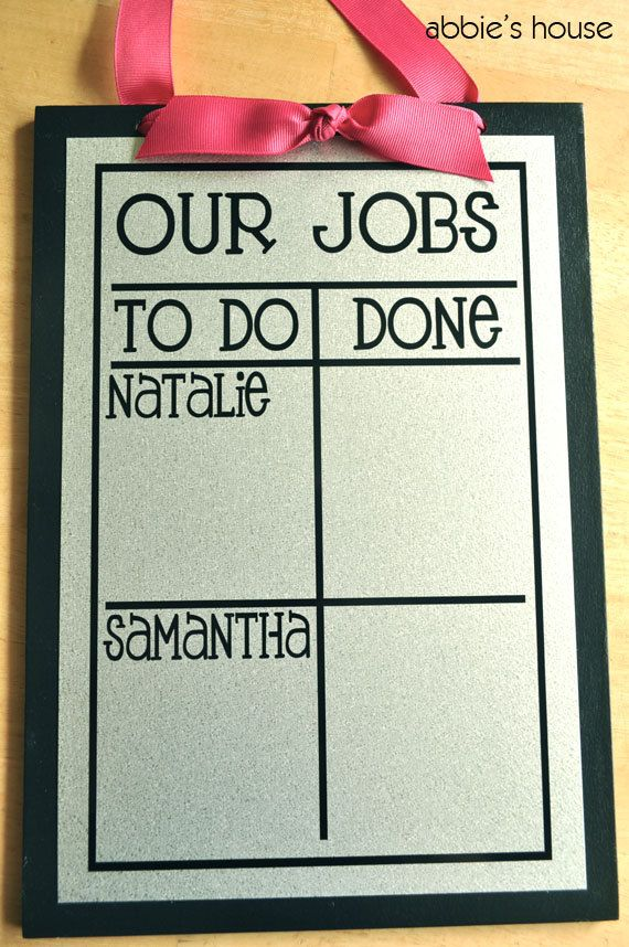Multiple Child Chore Chart by AbbiesHouse on Etsy, $22.00
