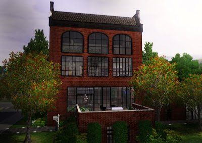 Sims 3 Lots: Polona - A Converted Factory Townhouse Custom Content Download