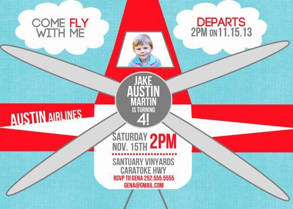 airplane birthday invitations - google search | airplane birthday, Birthday invitations