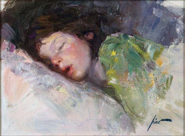 Джузеппе д'Анджелико Пино (1939 - 2010). Спящая девушка.