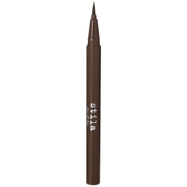 Stila Stay All Day Waterproof Liquid Eye Liner ($22) ❤ liked on Polyvore featuring beauty products, makeup, eye makeup, eyeliner, dark brown, liquid eyeliner, liquid eye liner, liquid eye-liner, stila eyeliner and stila