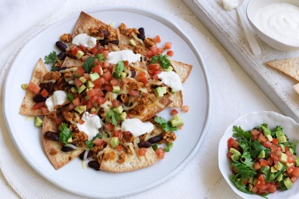 Delight the family with these healthy turkey mince nachos. Proudly brought to you by Campbell's Real Stock and taste.com.au.