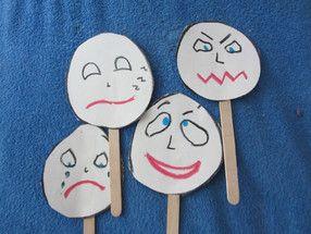 Zabawka na patyku - emocje - baw się, rozmawiaj i ucz!