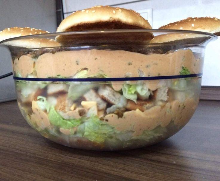Rezept Big Mac Salat von Yvonne_Lindner - Rezept der Kategorie Vorspeisen/Salate