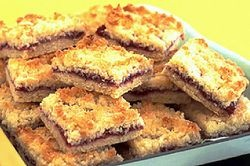 and these, too, raspberry coconut slice