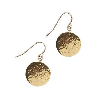 "Gold Hammered Coin Earrings  by Alicia Harding, 31% off (""These adorable spherical coin earrings from Alicia Marilyn Jewelry are a great everyday accessory. They hang less than an inch from your earlobe, are hand-hammered and plated in 14 karat gold vermeil."")Everyday Accessories, Jewelry Accessories, Alicia Marilyn, Hammer Coins, Karate Gold, Pretty, Gold Vermeil, Gold Hammer, Coins Earrings"