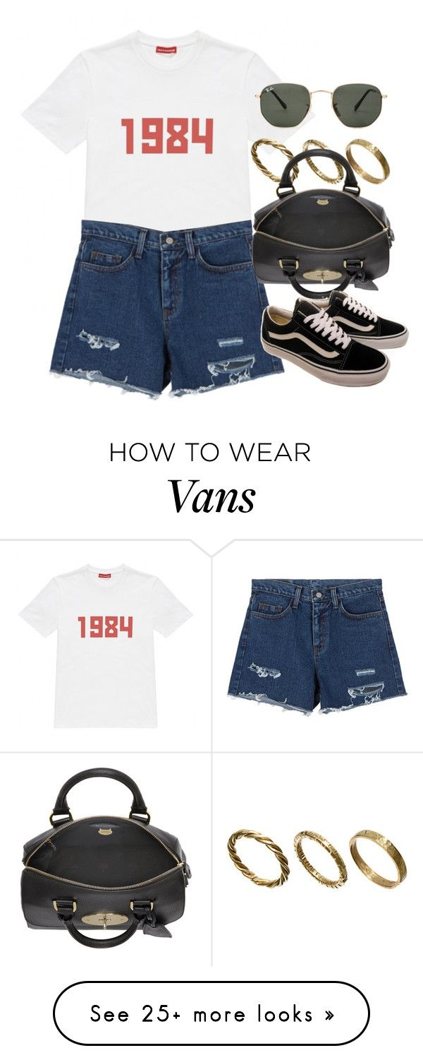 """""""Sin título #12531"""" by vany-alvarado on Polyvore featuring Gosha Rubchinskiy, Made, Ray-Ban, Mulberry and Vans"""