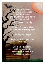 invitation wording ideas and samples for spooky Halloween party