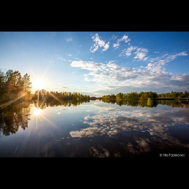 #lake #beautiful #finland #summer #sunset #travelling #luxury #view #travel #discover #search #perfect #getaway #villepic