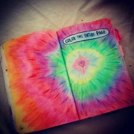 Colour this page.. wreck this journal