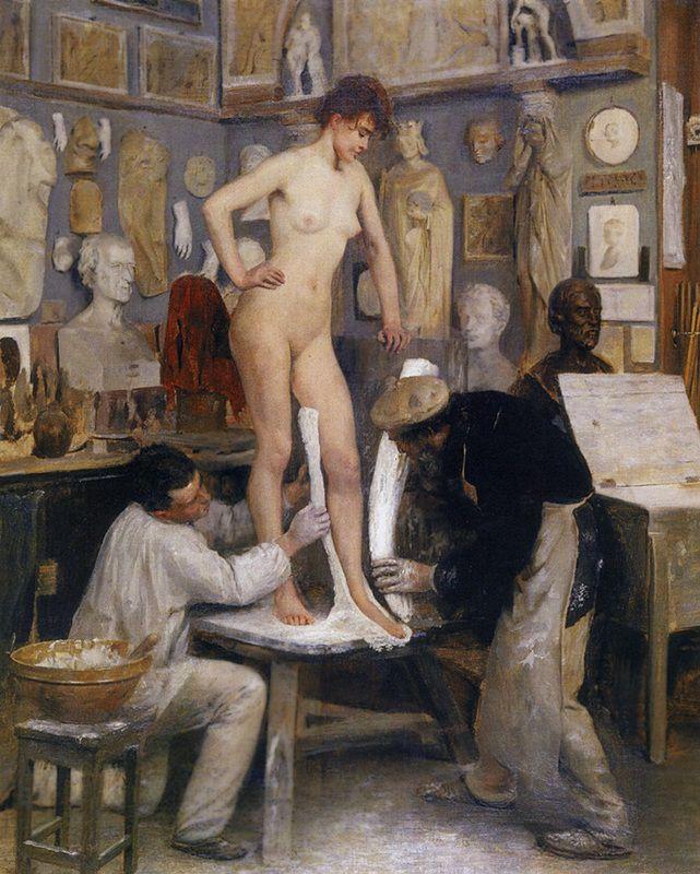 Εργαστήριο γλυπτικής στο Σεντ Κλάουντ (1887)