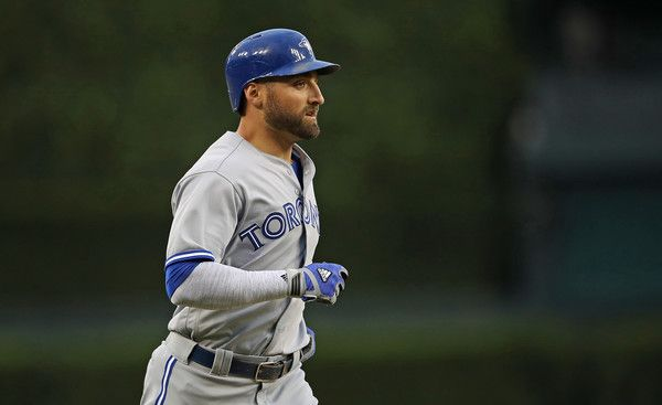 Kevin Pillar #11 of the Toronto Blue Jays rounds third base after hitting a solo home run to left field during the fifth inning of the game against the Detroit Tigers on June 7, 2016 at Comerica Park in Detroit, Michigan.