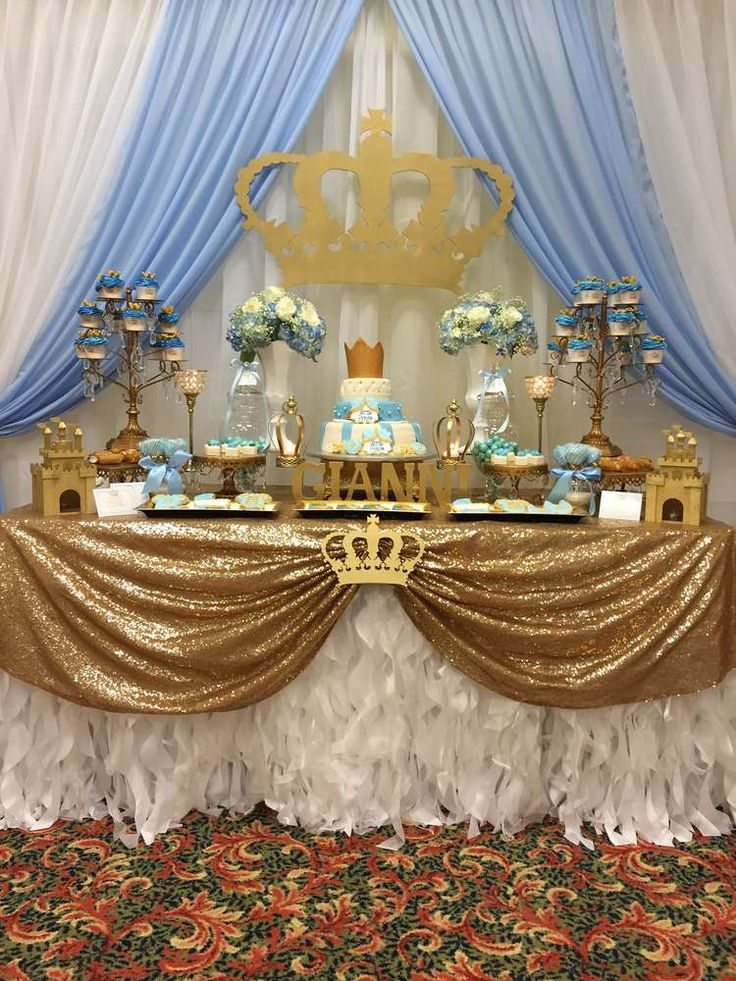 Prince Baby Shower Party Ideas   Photo 1 of 7   Catch My Party