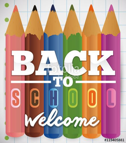 Welcome Poster with Set of Pencils for Back to School