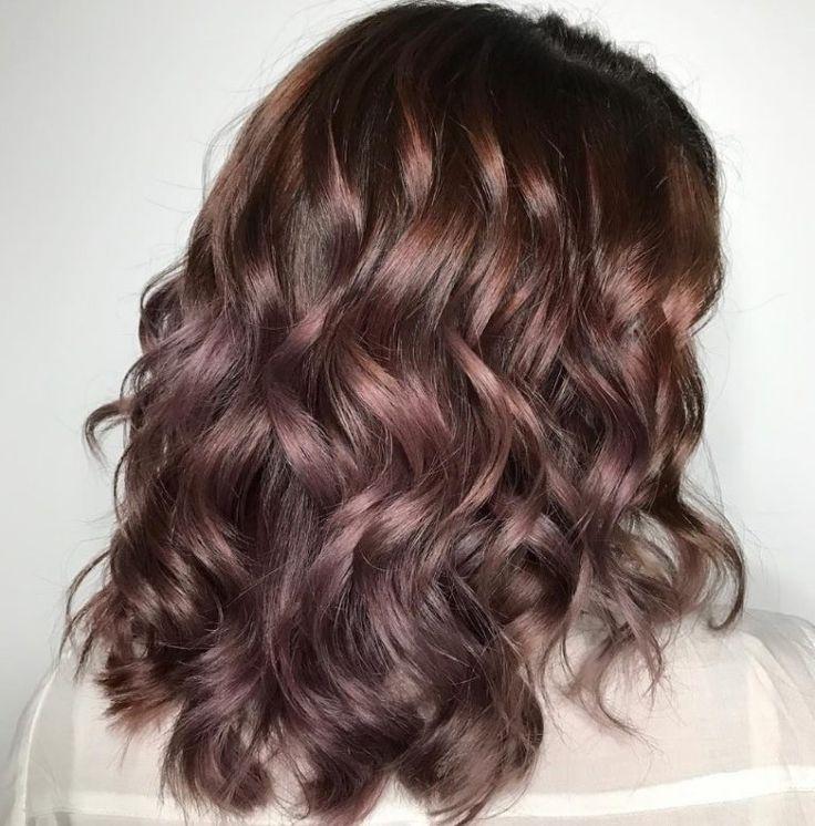 chocolate mauve hair color idea