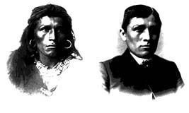 A Navajo boy named Tom Torlino on the left before entering the Carlisle Indian school and on the right is how  he looked after a short time at the school.