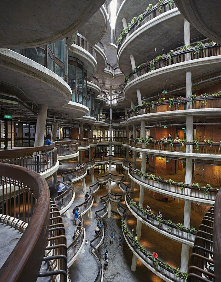 Innovative University Building in Singapore That Has No Corners - My Modern Met