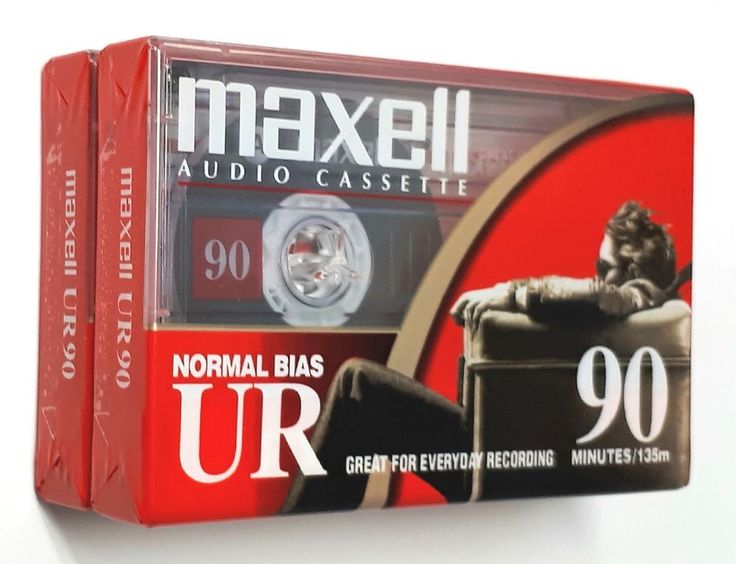 Maxell Audio Cassette Tape Normal Bias UR 90 Minutes Lot of 2 | eBay