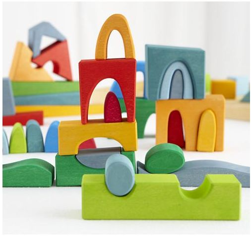 Unbelievable German-made wooden block set at Land of Nod