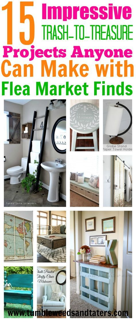 I'm so glad I found these fun and easy flea market flip projects! You can find these items almost anywhere for super cheap!
