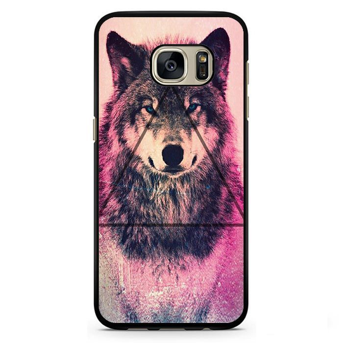 Pink Wolf Triangle Phonecase Cover Case For Samsung Galaxy S3 Samsung Galaxy S4 Samsung Galaxy S5 Samsung Galaxy S6 Samsung Galaxy S7