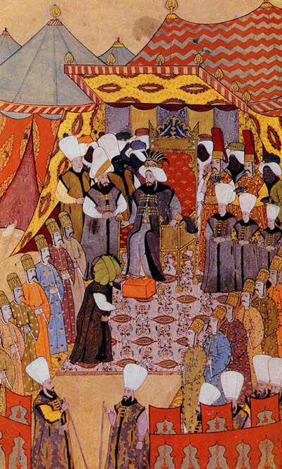 Ottoman Miniature or Turkish miniature was an art form in the Ottoman Empire, which can be linked to the Persian miniature tradition, as well as strong Chinese artistic influences. It was a part of the Ottoman Book Arts together with illumination (tezhip), calligraphy (hat), marbling paper (ebru) and bookbinding (cilt). The words taswir or nakish were used to define this art in Ottoman language. The studios the artists worked in were called Nakkashane. The miniatures were not signed.