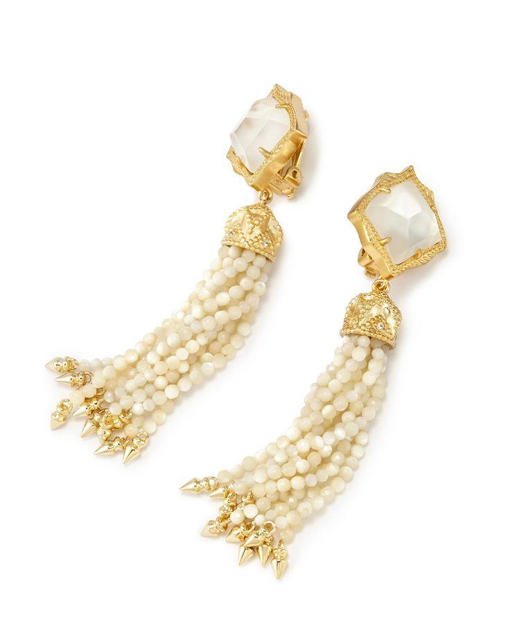 Misha Earrings In Ivory Pearl - Kendra Scott Jewelry.