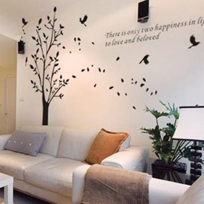 Mural de árbol decorativo con Aves