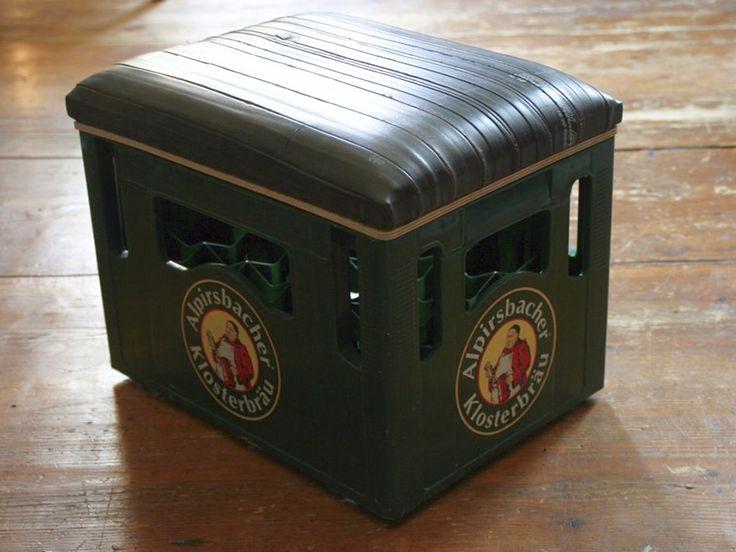 Sitzgelegenheit für Bierkiste