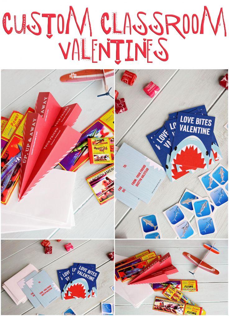 Custom Classroom Valentines from @peartreegreet