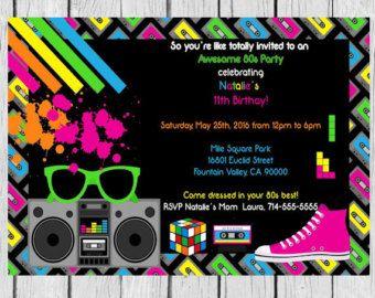 80u0027s Party Invitation
