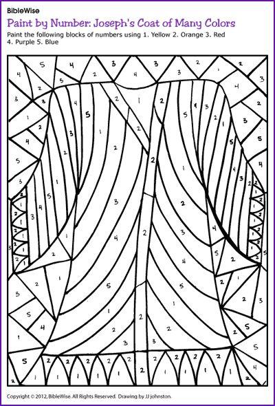 Paint By Number Josephs Coat