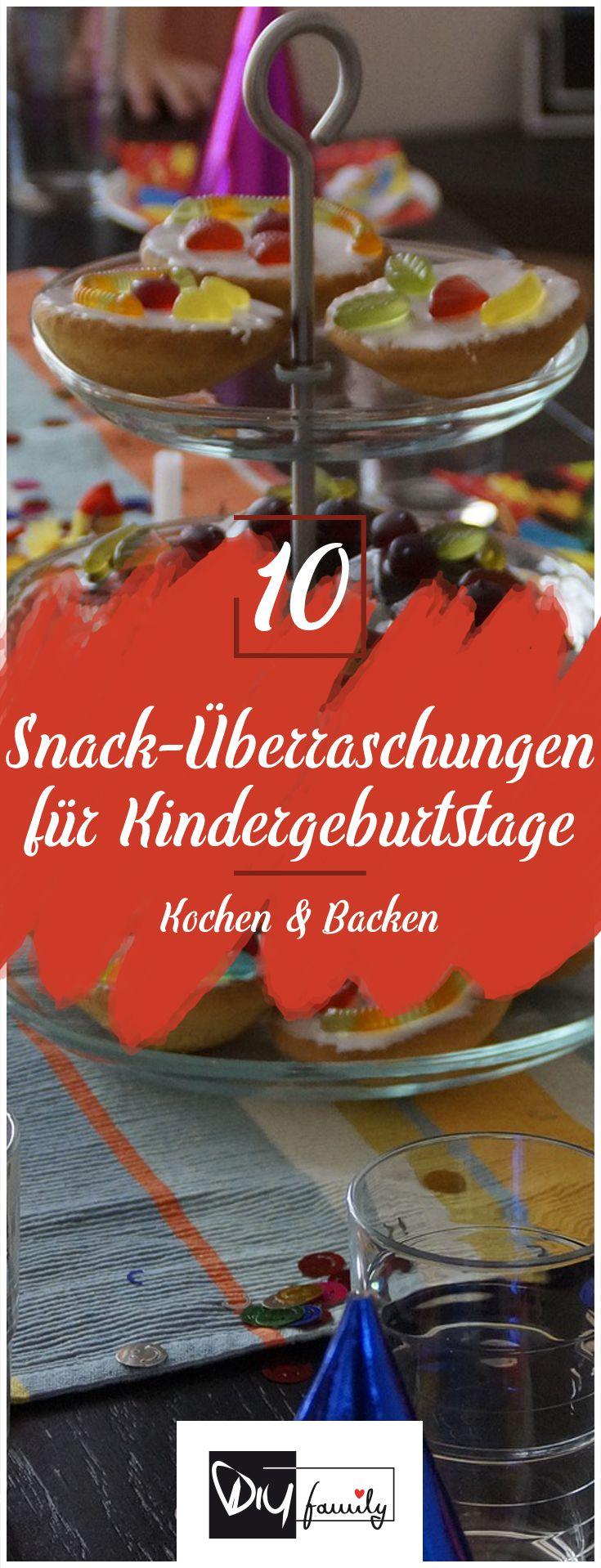 Die 10 coolsten Snack-Überraschungen für jeden Kindergeburtstag  #birthday, #diy, #deko, #selfmade, #homemade, #fun, #creativ