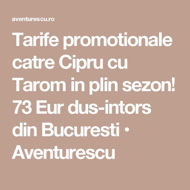 Tarife promotionale catre Cipru cu Tarom in plin sezon! 73 Eur dus-intors din Bucuresti • Aventurescu
