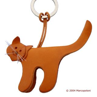 Cat Leather Key Chain: handmade in Italy