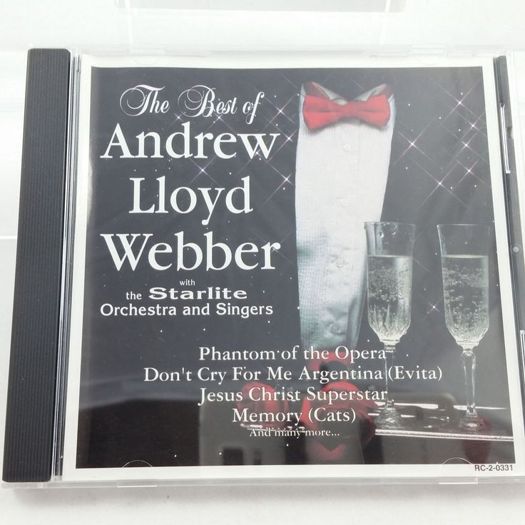 The Best of Andrew Lloyd Webber w Starlite Orchestra & Singers CD #Orchestral
