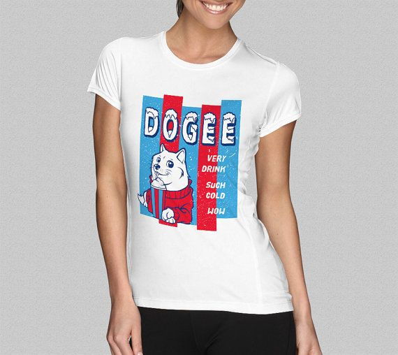Doge T-Shirt - Shibe T-Shirt - Very Drink, Such Cold, Wow T-Shirt - Women's T-Shirt S M L XL XXL