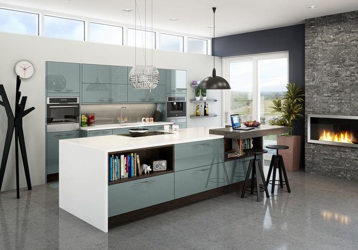 blue kitchens - Google Search
