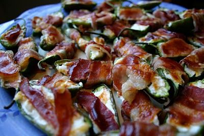 Jalapeno Popper Appetizer   I've been soo excited to share this recipe with you ladies. I took them to Sunday dinner the other night, and I'm pretty sure I'm the new favorite daughter/sister-in-law:) The men in the family went gaga over them and they have been requested for appetizers in football season. Make these, ladies and YOU'LL be mans new best friend!    Here are the ingredients: Jalapenos, bacon, cream cheese, cheddar cheese, green onion, barbecue sauce and toothpicks.    Start out…