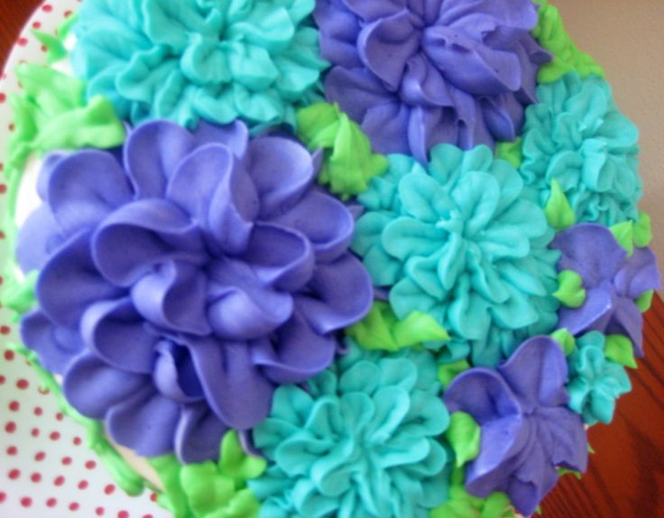 Buttercream Flower Birthday Cake!  Funfetti Cake frosted and decorated with Dreamy Vanilla Buttercream.