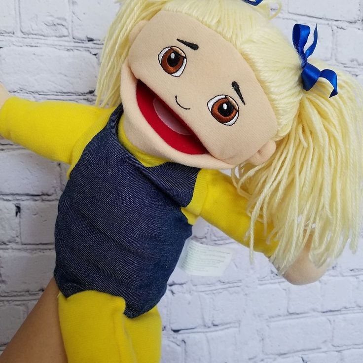 Marvel Education Company Hand Puppet Pretend Play Caucasian Girl With Pig Tails  #MarvelEducationCompany