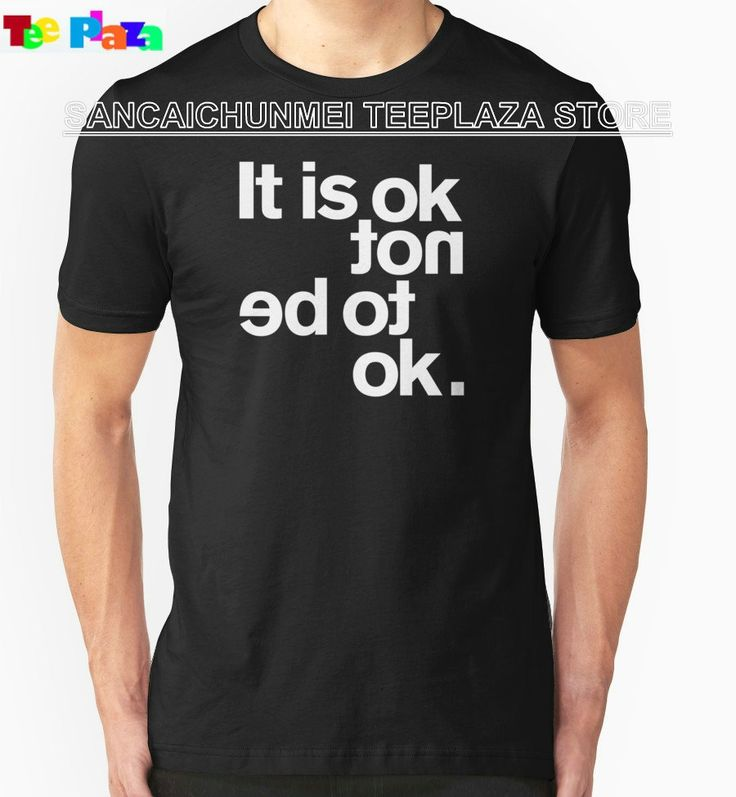 Teeplaza T Shirt Male Hipster Tops Short Men It Is Ok Not O-Neck Fashion 2017 Tee Shirts