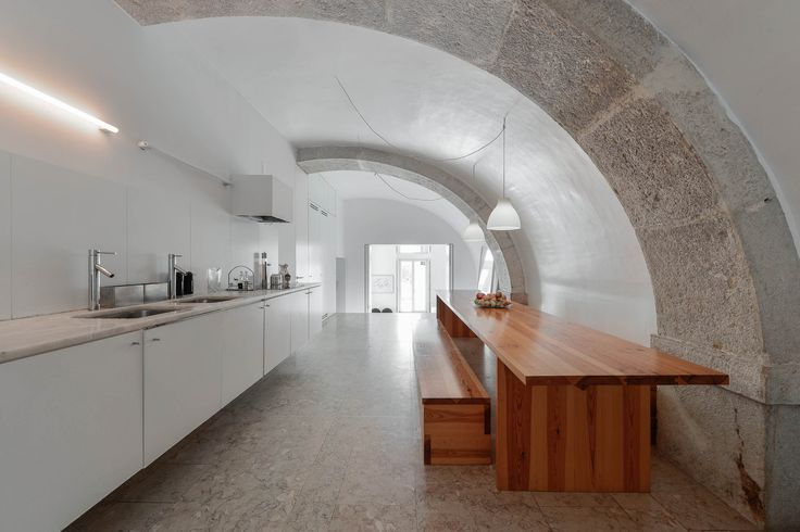 Built by Aires Mateus in Lisbon, Portugal with date 2006. Images by Ricardo Oliveira Alves. A succession of everyday spaces occupied the lower floor of an 18th century building on castle hillside. The estate e...