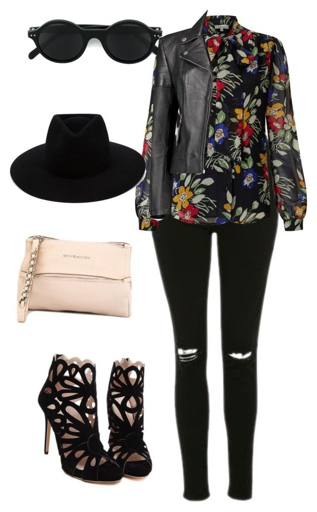 """""""Flores negras"""" by valentina354 on Polyvore featuring Topshop, Somerset by Alice Temperley, CÉLINE, rag & bone, Givenchy and Boohoo"""