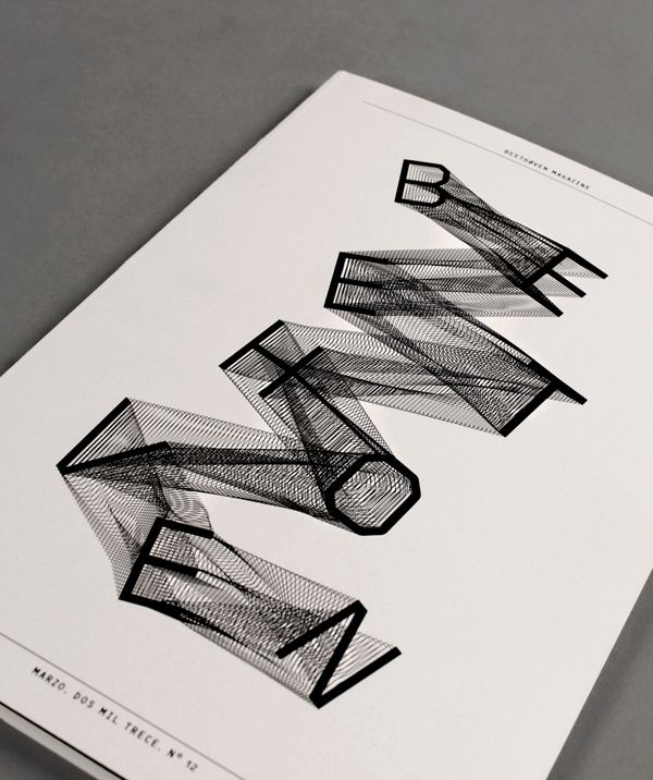 Beethoven Magazine by Manel Portomeñe. / #typography