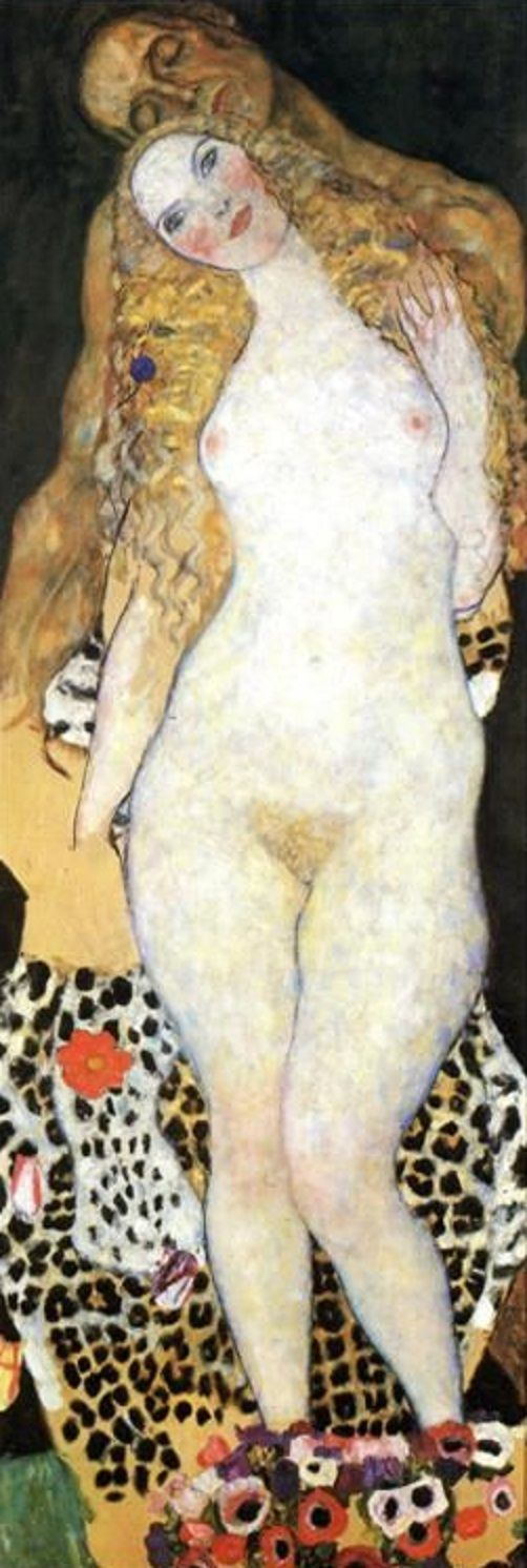 ADAM ET EVE......BY GUSTAV KLIMT......ON ART AND FURY.TUMBLR.......