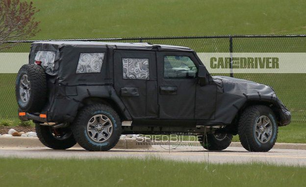 2018 Jeep Wrangler Spy Photos – News – Car and Driver #2018 #jeep #wrangler #spy #photos, #2017, #fca, #solid #axle, #off-road, #toledo, #aluminum, #diesel, #pickup, #hybrid, #plug-in, #mild #hybrid, #3.6-liter, #v-6, #pentastar, #eight-speed, #stick #axle, #body #on #frame, #rigid #axle, #solid #axle, #spied, #2018, #future #cars, #six-speed #manual, #renegade, #unlimited, #willys, #rubicon, #sahara, #softtop, #hardtop, #sport…