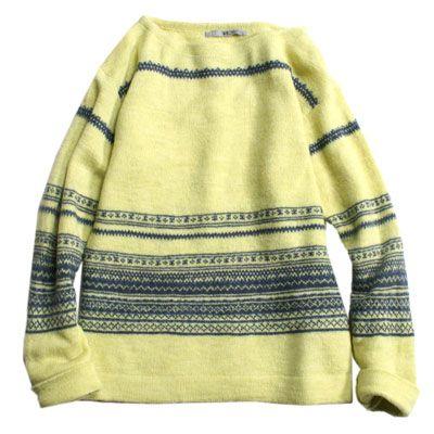 45R Online Storeウール縮絨フェアアイルセーター: Lady's